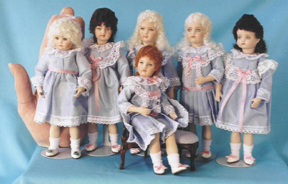 "6/"" Antique Reproduction doll molds by Doreen Sinnett"